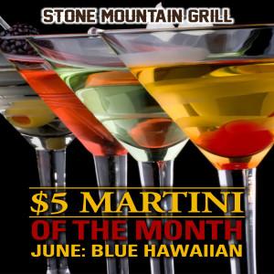 Blue Hawaiian June Martini of the Month 2015