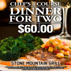 Chef's Four Course Dinner for Two 2017